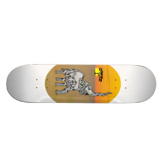 Trumpeting Elephant Skateboard Deck