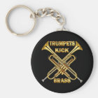 Trumpets Kick Brass Key Ring