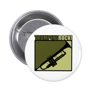 Trumpets Rock 6 Cm Round Badge