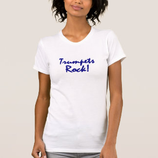 Trumpets Rock - Blue Lettering T-Shirt