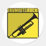 Trumpets Rock! Classic Round Sticker