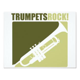 Trumpets Rock! Custom Invitations