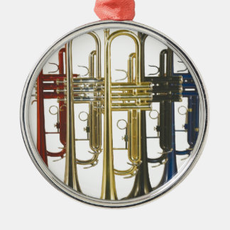TRUMPETS Silver-Colored ROUND DECORATION
