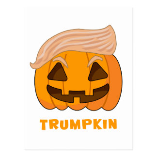 Trumpkin Donald Trump Pumpkin Postcard