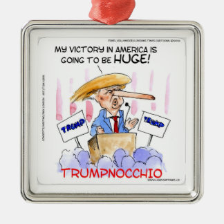 Trumpnocchio Funny Donald Trump Items Christmas Ornament