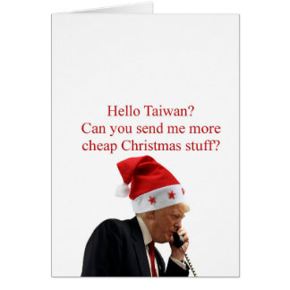 Trump's Christmas call to Taiwan Card