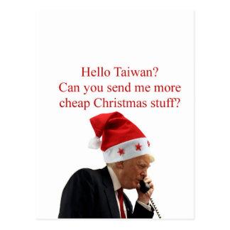 Trump's Christmas call to Taiwan Postcard