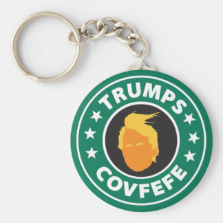 Trumps Covfefe Basic Round Button Key Ring