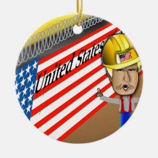 Trump's Wall Christmas Ornament