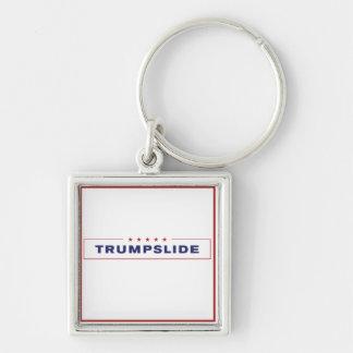 TrumpSlide Square Keychain