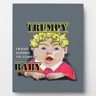 Trumpy Baby - 8 x 10 Plaque with Easel