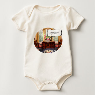 Trumpy Baby in Office -  American Apparel Organic Baby Bodysuit