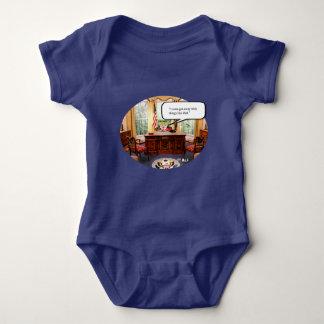 Trumpy Baby in Office - Baby Jersey Bodysuit