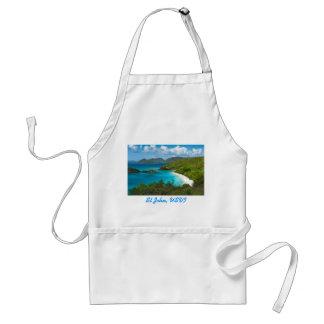 Trunk Bay, St John USVI Adult Apron