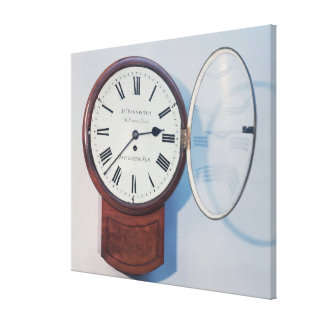 Trunk dial clock, London, 1850 Stretched Canvas Print