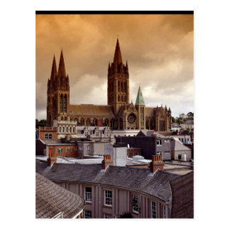Truro Cathedral, Cornwall, England Postcard