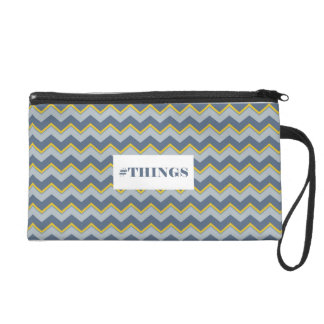 Trusses Chevron Blue and Yellow Wristlet