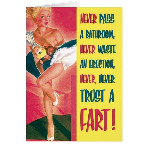 Trust A Fart Funny Birthday Card