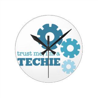 Trust A Techie Wallclock