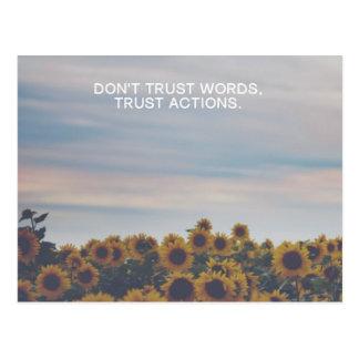 Trust Actions Postcard