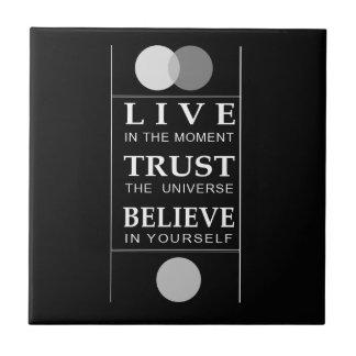 Trust Believe Inspirational Spiritual Quote Tiles