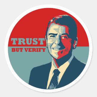 TRUST BUT VERIFY 10X10 STICKER