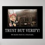TRUST BUT VERIFY! Poster