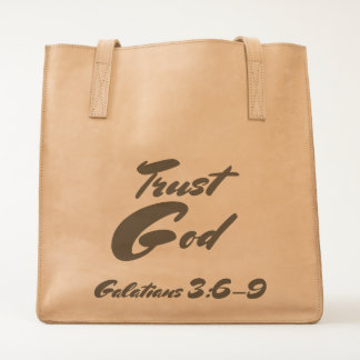 Trust God : Leather Tote