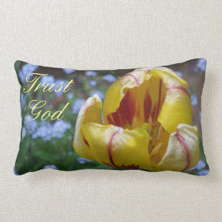 Trust God Yellow Tulip Pillow - Robin Ayscue