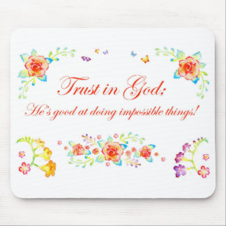 Trust in God Mouse Mat