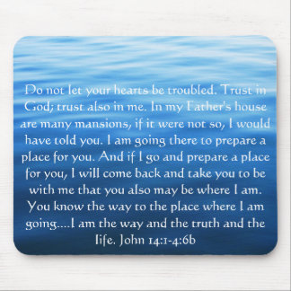 Trust in God; trust also in me - John 14:1-4:6 Mouse Mat