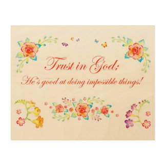 Trust in God Wood Wall Decor