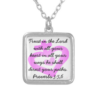 Trust in the Lord Christian Necklace