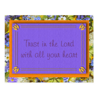 Trust in the Lord Christian Postcard Postcards