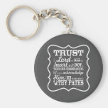 Trust in the Lord - Grey Basic Round Button Key Ring