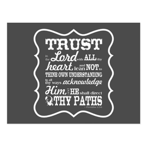 Trust in the Lord - Grey Post Card