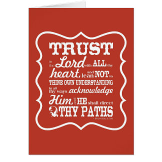 Trust in the Lord - Orange Card