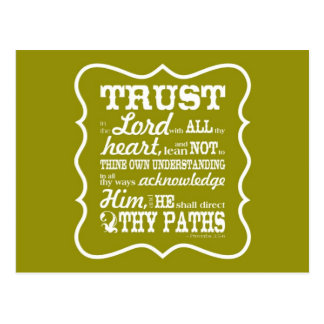 Trust in the Lord Post Cards