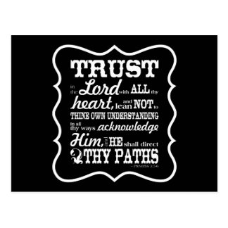 Trust in the Lord Post Card