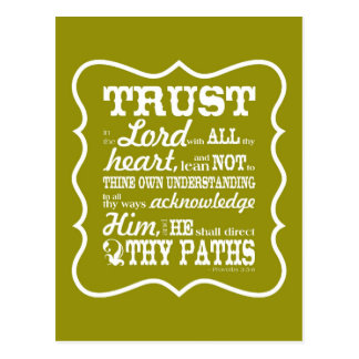 Trust in the Lord Postcards