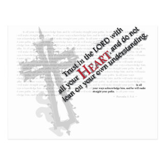 Trust in the Lord Postcard