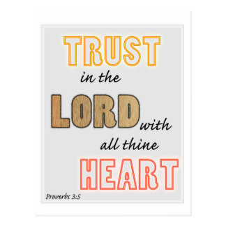 trust in the Lord proverbs scripture Post Card