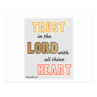 trust in the Lord proverbs scripture Postcard