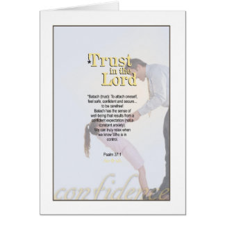 Trust in the Lord - Psalm 37 1 Cards