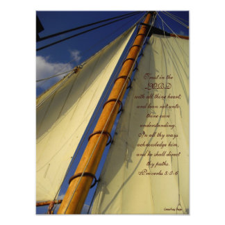 Trust in the Lord Ship Sails Print Photograph