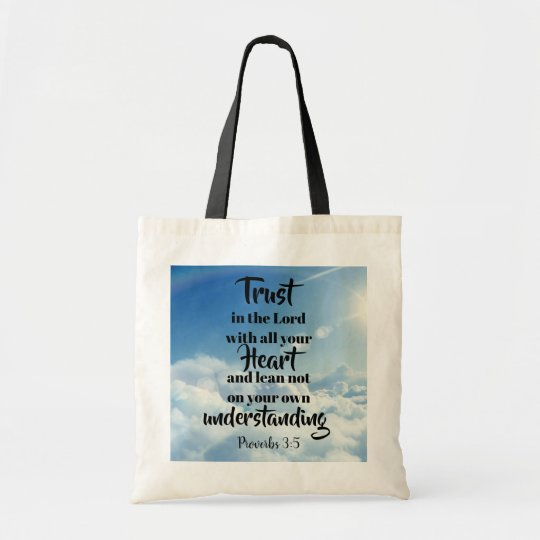 Trust in the Lord tote