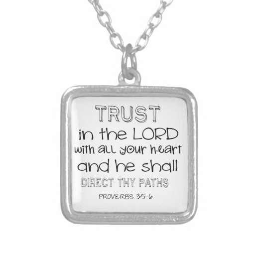 Trust in the Lord With All Your Heart Personalized Necklace