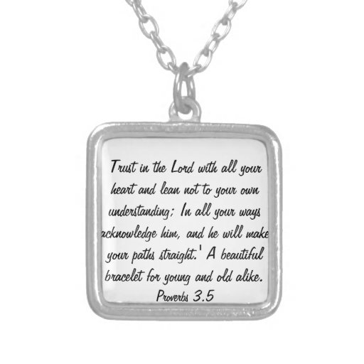 trust in the Lord with all your heart necklace