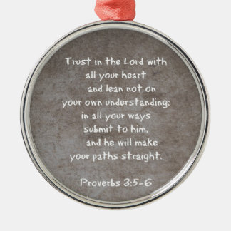 Trust in the Lord with all your heart...Proverbs 3 Christmas Ornament