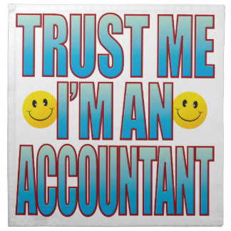 Trust Me Accountant Life B Napkin
